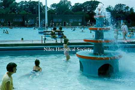View of Niles City Pool in Waddell Park.